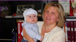Lyudmila og baby